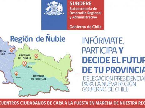Delegación Presidencial convocó a habitantes de Ñuble a participar en encuentros ciudadanos
