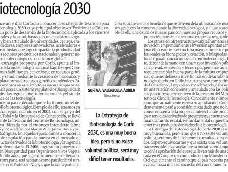 Opinión: Biotecnología 2030 (Diario  El Sur)