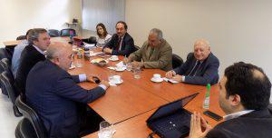 Decanos de Universidad del Biobío (UBB) dialogaron con el diputado Gustavo Sanhueza sobre aportes y desafíos de la nueva Región de Ñuble  (sitio web UBB, 2303/2018)