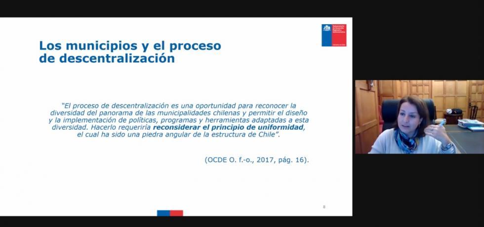 """Subsecretaria Troncoso: """"Debemos mirar una nueva constitución como una oportunidad para consensuar los cambios que requiere el modelo municipal"""""""