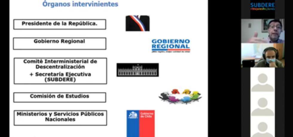 Subdere realiza charla a gobiernos regionales en materia de transferencia de competencias