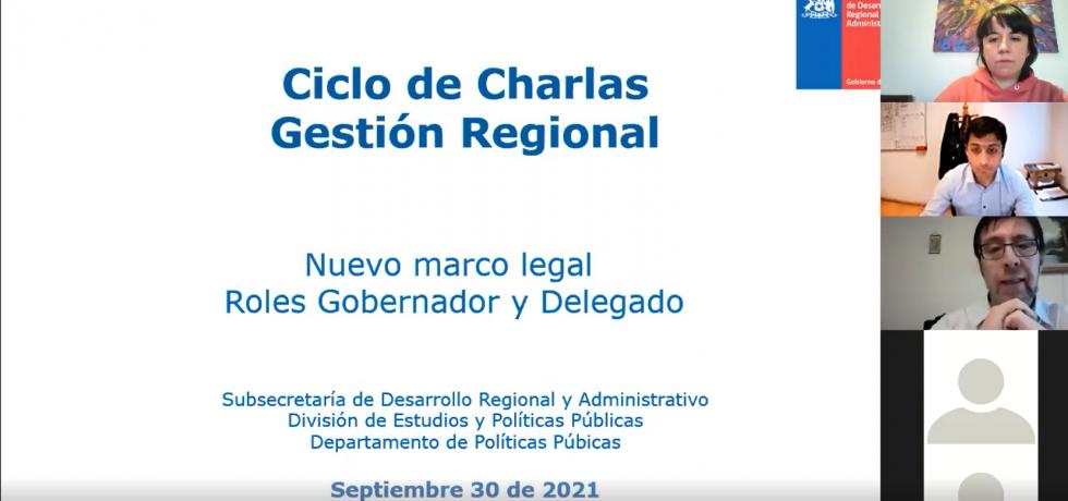 Comenzó ciclo de charlas para nuevos equipos de gobiernos regionales